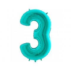 """Цифра """"3"""" тиффани"""