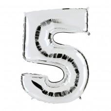"Цифра ""5"" серебро"
