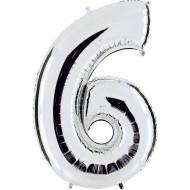 "Цифра ""6"" серебро"