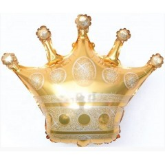 """Фольгированный шар """"Корона"""" золото"""