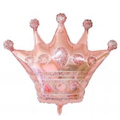 """Фольгированный шар """"Корона"""" розовое золото"""