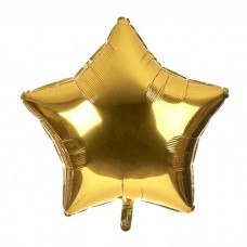 Звезда фольгированная золото