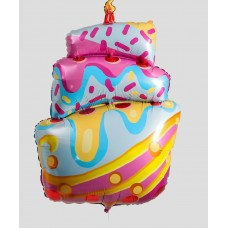"""Фольгированный шар """"Торт"""" со свечой"""