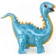 """Ходячий шар """"Динозавр Стегозавр"""" голубой"""