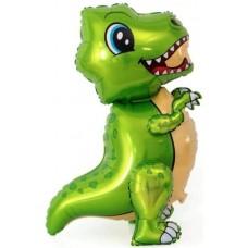 """Ходячий шар """"Маленький Динозавр"""" зеленый"""
