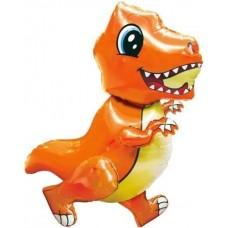 "Ходячий шар ""Маленький Динозавр"" оранжевый"