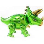 """Ходячий шар """"Динозавр Трицератопс"""" зеленый"""