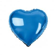 Сердце фольгированное синее 75 см.