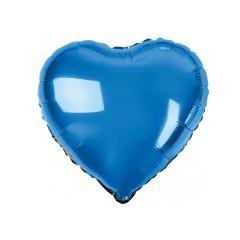 Сердце фольгированное синее