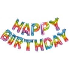 "Надпись ""Happy Birthday"" радужный"