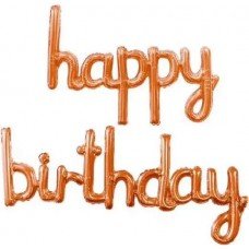 "Надпись ""Happy Birthday"" коралл"