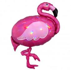 "Фольгированный шар ""Фламинго"" перламутр"