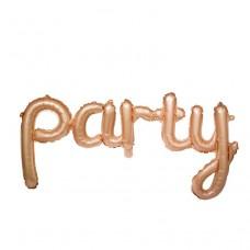 """Надпись """"Party"""" розовое золото"""