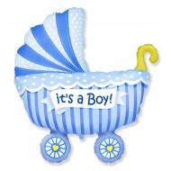 """Фольгированный шар """"Коляска"""" мальчик"""