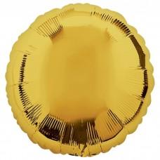 Круг фольгированный золото 75 см.