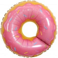 """Фольгированный шар """"Пончик"""" розовый"""
