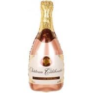 """Фольгированный шар """"Шампанское"""" розовое"""