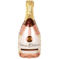 """Фольгированный шар """"Шампанское"""" розовое золото"""