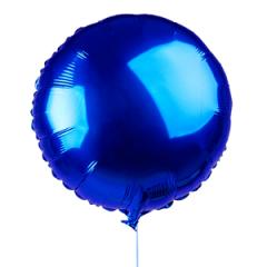 Круг фольгированный синий