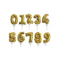 Цифра-топпер золото