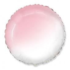 Круг бело-розовый градиент