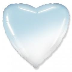 Сердце бело-голубое градиент
