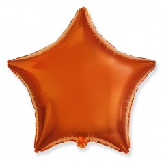 Звезда фольгированная оранжевая