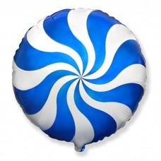 """Фольгированный шар """"Карамелька"""" синяя"""