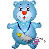 """Фольгированный шар """"Голубой мишка"""""""