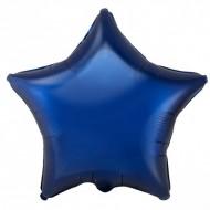 Звезда фольгированная темно-синяя