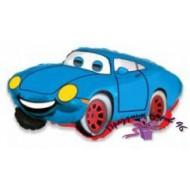 """Фольгированный шар """"Машина"""" синяя"""