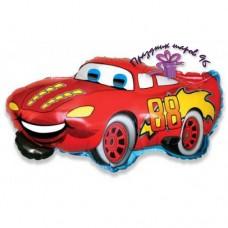"""Фольгированный шар """"Машина"""" красная"""