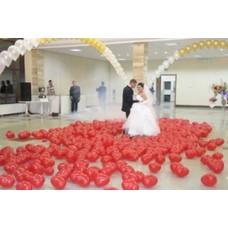 """Воздушные шары """"Сердца на пол"""""""