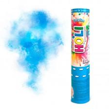 "Пневмохлопушка ""Праздник Холи"" голубая 30 см."